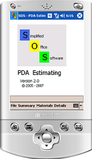 SOS - PDA Estimating screenshot